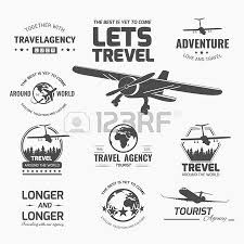 A Set Of Vector Logo Design Elements For Travel Agency Plane Vacation
