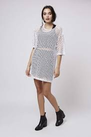 topshop mesh oversized tunic dress by escapology in white lyst