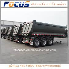 100 Truck And Trailer Supply China Cimc 3Axle Tipping Tipper Semi China
