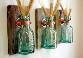 1868 Green Honey Bottles Rustic Wall Decor Kitchen Home Shabby