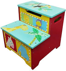 wodney tritthocker aus holz für kinder kindertritthocker mit aufbewahrung tragbare leichte step hocker für kleinkinder kinder kinder