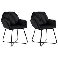 vidaxl esszimmerstühle 2 stk schwarz samt