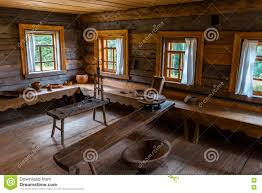 Russian Wooden House Interior