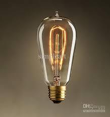 antique vintage edison l light bulb 220v radiolight t58