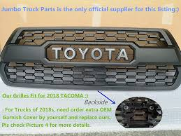 Amazon.com: Tacoma TRD PRO Grille Matte Black Fit For TOYOTA Tacoma ... Amazons Grocery Delivery Business Quietly Expands To Parts Of New Oil Month Promo Amazon Deals On Oil Filters Truck Parts And Amazoncom Hosim Rc Car Shell Bracket S911 S912 Spare Sj03 15 Playmobil Green Recycling Truck Toys Games For Freightliner Trucks Gibson Performance Exhaust 56 Aluminized Dual Sport Designs Kenworth W900 16 Set 4 Ford Van Hub Caps Design Are Chicken Suit Deadpool Courtesy The Tasure At Sdcc The Trash Pack Trashies Garbage