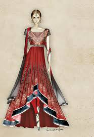 Indian Wedding Dress Design Sketches Tying The Knot Spice