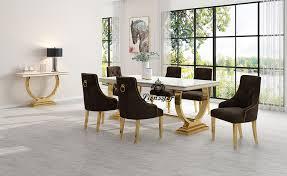 luxus esstisch set loft design gold lionsstar gmbh