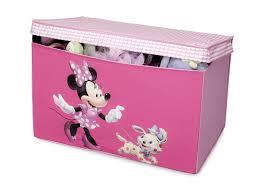 coffre a jouet fille delta children tb84867mn minnie coffre à jouets en tissu
