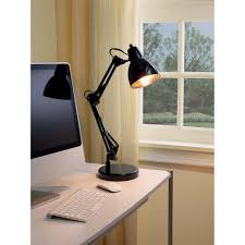 Mainstays Floor Lamp With Reading Light Assembly by Mainstays Architect Desk Lamp Black Walmart Com