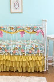 Bumperless Baby Bedding Custom Baby Girl Bedding with Pink and