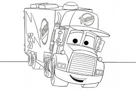 Image Of Lightning Mcqueen And Mack Coloring Pages