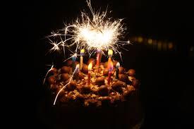 chocolate birthday cake candles