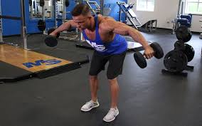 Pec Deck Flye Alternative by Bent Over Dumbbell Reverse Fly Video Exercise Guide U0026 Tips