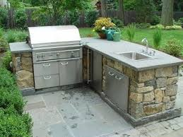 L Shaped Outdoor Kitchen Ideas Outside Grill One Of The Picture Design Endearing Best Plans Room