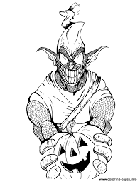 Green Goblin From Spider Man Cartoon Colouring Page Coloring Pages