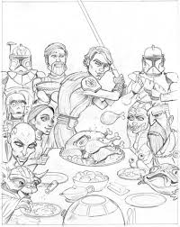 Coloring Pages Star Wars The Clone