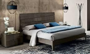 details zu bett doppelbett schlafzimmer farbe silber birke hochglanz möbel modern italien