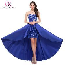online get cheap elegant blue high low evening dress aliexpress