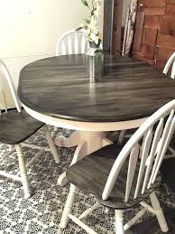 Refinishing Dining Room Table Refurbished Ideas Snow White Milk Paint With Painting Chairs Ref