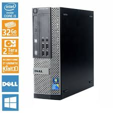 pc de bureau reconditionné pc bureau dell optiplex 7010 intel i5 32 go ram 2 to disque