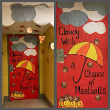 Cloudy With A Chance Of Meatballs Classroom Door Decoration