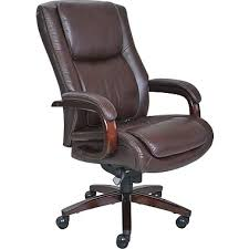 Tempurpedic Desk Chair Amazon by La Z Boy Winston Leather Executive Office Chair Fixed Arms Brown