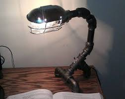 1 Desk Industrial Pipe Lamp With Light Bulb Armor