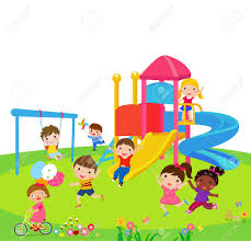 Happy Children Playing Outside Stock Vector