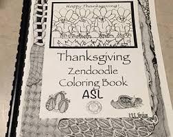 Thanksgiving ASL Zen Doodle Coloring Book