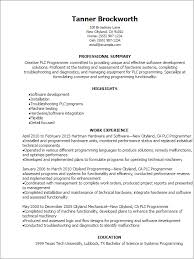 Professional Plc Programmer Resume Templates To Showcase Your Talent