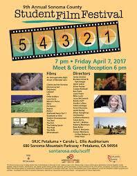 Sonoma County Student Film Festival Poster