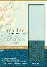 NIV Real Life Devotional Bible For Women Compact Leathersoft Green