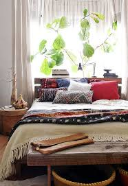 Restful Bedroom With Ethnic Textiles And Kantha Quilt