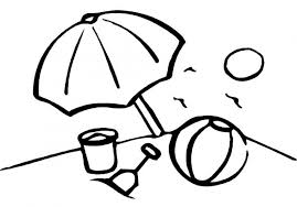 Children Beach Coloring Pages At Painting Free Kids
