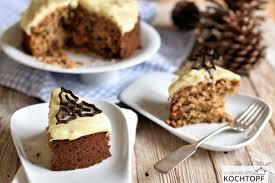 früchte lebkuchen mit weissem schokoladen frischkäse frosting