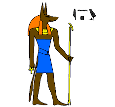 Colored Page Anubis Painted By Rishikesh