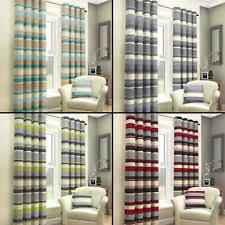 Navy And White Striped Curtains Uk by Fully Lined Curtains Ebay
