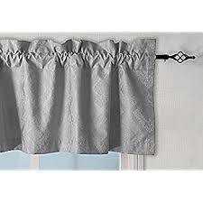 amazon com achim home furnishings darcy window curtain valance