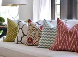Make House A Home Without Spending Any Money Ideas By Covering Pillows Cushions And Bolsters White Couch