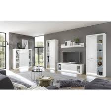 lomadox tv wand mailand 61 wohnzimmer wohnwand set in hochglanz weiß mit beleuchtung b h t 350 198 43cm kaufen otto