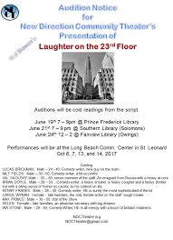 Laughter On The 23rd Floor Script by New Direction Community Theater Home Facebook