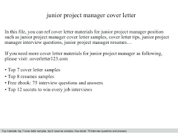 Project Manager Cover Letter Junior In This File You Can Ref