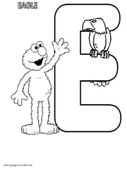 Sesame Street Alphabet Coloring Pages E Letter