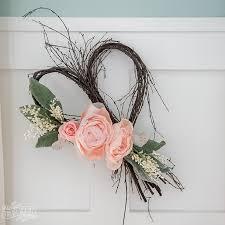 Simple DIY Rustic Romantic Spring Or Valentines Day Wreath