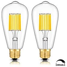 crlight led edison bulb 10w dimmable 3000k soft white 1000lm 100w