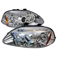 96 98 honda civic chrome halo projector led headlights