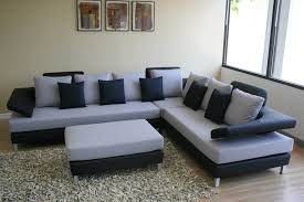 Black Sofas For Modern Living Room Interior Cozy Atmopshere With Design Idea Equipped Wooden Flooring Gr