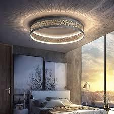 44w led deckenleuchte dimmbar mit fernbedienung wohnzimmer deckenle kreativ rund schwarz gold aushöhlen design schlafzimmer le acryl schirm
