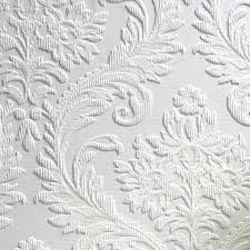 Brewster RD80027 Anaglypta Paintable Large Traditional Damask Wallpaper 21 Inch By 396 Shabby Chic