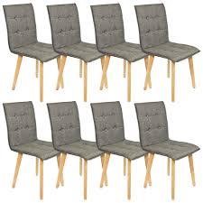 stühle im 8 er set modern esszimmerstühle küchenstühle wohnzimmerstuhl dunkelgrau polsterstuhl mit rückenlehne knöpfe echt holz beinen belastbar